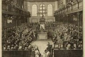 The House of Commons in session 1741-2 (detail)